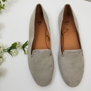 H&M Faux Taupe Suede Loafers